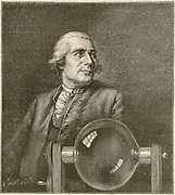 'Joseph-Michel Montgolfier (1740-1810) French papermaker, inventor of the hydraulic ram (pump) and, with his brother Jules-Etienne, inventors of the hot air balloon in which Etienne made the first manned flight.'