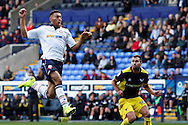 Bolton's Keshi Anderson flies in on goal during the EFL Sky Bet League 1 match between Bolton Wanderers and Oxford United at the Macron Stadium, Bolton, England on 1 October 2016. Photo by Craig Galloway.