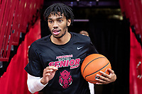 FAYETTEVILLE, AR - MARCH 4:  Jimmy Whitt Jr. #33 of the Arkansas Razorbacks runs onto the court before a game against the LSU Tigers at Bud Walton Arena on March 4, 2020 in Fayetteville, Arkansas.  (Photo by Wesley Hitt/Getty Images) *** Local Caption *** Jimmy Whitt Jr.