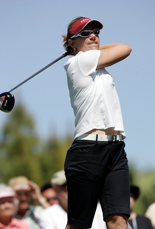 RANCHO MIRAGE, CA - MARCH 24, 2005:  Annika Sorenstam competes in the Kraft Nabisco Championship in Rancho Mirage, CA from March 22 through March 25, 2005. Sorenstam won the tournament which is the first major of the year for the LPGA tour.  (Photo by Todd Bigelow/Aurora)