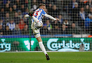 Huddersfield Town's Florent Hadergjonaj during the Premier League match between Huddersfield Town and West Bromwich Albion at the John Smiths Stadium, Huddersfield, England on 4 November 2017. Photo by Paul Thompson.