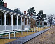 Officers' Quarters, Fort Larned National Historic Site, Santa Fe Trail, Kansas.