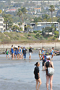 San Diego, California. USA. General Views, Crews boating from the beach. 2013 Crew Classic Regatta, Mission Bay.  11:01:35.  Saturday  06/04/2013   [Mandatory Credit. Peter Spurrier/Intersport Images]  ..