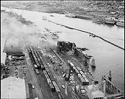 "Ackroyd 14213-01 ""Kerr Grain Corp. Aerials of fire. October 12, 1966"" (DEQ Site ID 2356, Port of Portland - Terminal 4 Slip 1)"