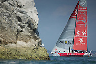 The Artemis Challenge at Aberdeen Asset Management Cowes Week 2014. <br /> Dongfeng - skippered by Charles Caudrelier (FRA)<br /> FREE for editorial use. Credit: Lloyd Images