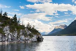 Waterton Lake in Waterton Lakes National Park in Alberta Canada