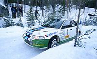 Ål 180103 - Rally - Henning Solberg vant NM åpningen i rally i Hallingdal med lånt bil.<br /> <br /> Foto: Andreas Fadum, Digitalsport