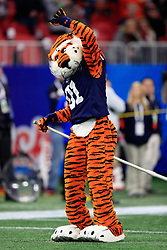 Aubie the Tiger during the 2018 Chick-fil-A Peach Bowl NCAA football game on Monday, January 1, 2018 in Atlanta. (Paul Abell / Abell Images for the Chick-fil-A Peach Bowl)