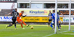 Dundee United's Simon Murray scoring their goal. half time : Dunfermline 0 v 1  United, Scottish Championship game played 10/9/2016 at East End Park.