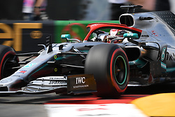 May 25, 2019 - Monaco, Monaco - English five time World Champions Lewis Hamilton of German team Mercedes-AMG Petronas Motosport driving his single-seater Mercedes W10 during the 90th edition of the Monaco GP, 6th stage of the Formula 1 world championship, in Monaco-Ville, Monaco  (Credit Image: © Andrea Diodato/NurPhoto via ZUMA Press)