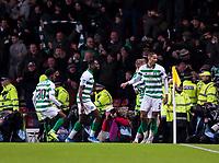 Football - 2019 Betfred Scottish League Cup Final - Celtic vs. Rangers<br /> <br /> Christopher Jullien of Celtic celebrates scoring to make it 1-0, Hampden Park Glasgow.<br /> <br /> COLORSPORT/BRUCE WHITE