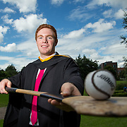 """25.08.2016          <br />  Faculty of Business, Kemmy Business School graduations at the University of Limerick today. <br /> <br /> Attending the conferring was Tipperary Senior Hurler, Jason Forde,Bachelor of Business Studies, Silveriness Co. Tipperary. Picture: Alan Place.<br /> <br /> <br /> As the University of Limerick commences four days of conferring ceremonies which will see 2568 students graduate, including 50 PhD graduates, UL President, Professor Don Barry highlighted the continued demand for UL graduates by employers; """"Traditionally UL's Graduate Employment figures trend well above the national average. Despite the challenging environment, UL's graduate employment rate for 2015 primary degree-holders is now 14% higher than the HEA's most recently-available national average figure which is 58% for 2014"""". The survey of UL's 2015 graduates showed that 92% are either employed or pursuing further study."""" Picture: Alan Place"""