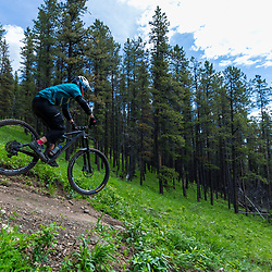 Mark riding 7-27 at Moose Mountain, Alberta Canada