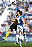 CD Leganes' Unai Bustinza (r) and Malaga CF's Chory Castro during La Liga match. February 25,2017. (ALTERPHOTOS/Acero)