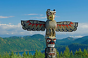 totem pole <br /> Malahat Drive on Vancouver Island<br /> British Columbia<br /> Canada