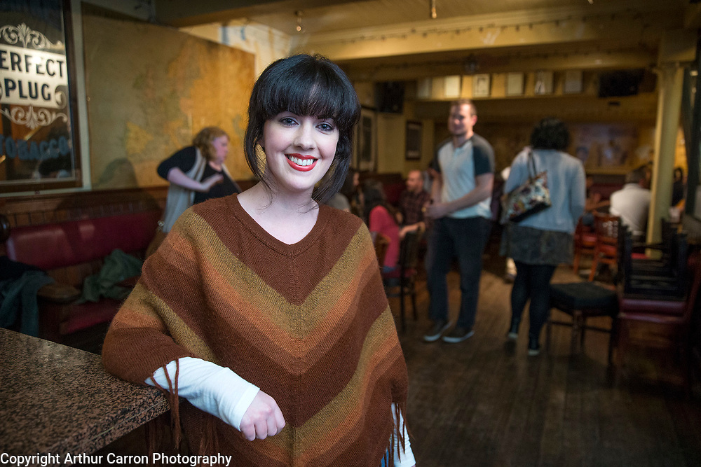 27/9/15 Deirdre Reynolds at a speed friending event in the Stags Head  in Dublin. Picture:Arthur Carron