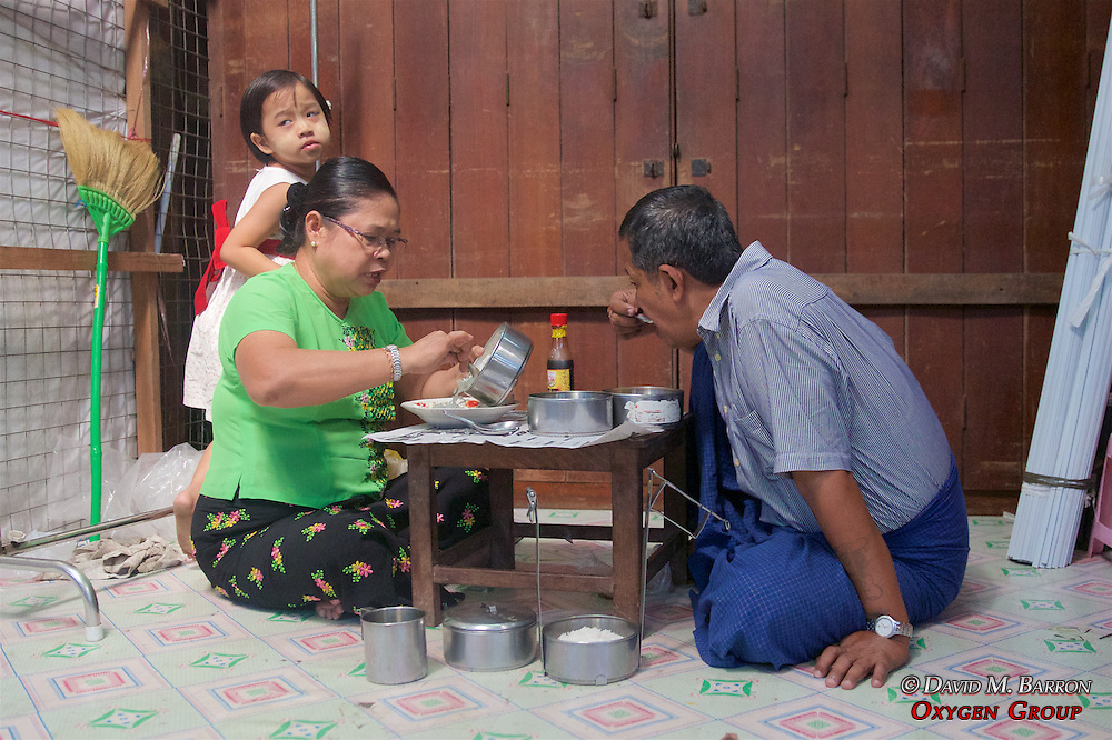 Merchants Eating, Gyee Zai Market
