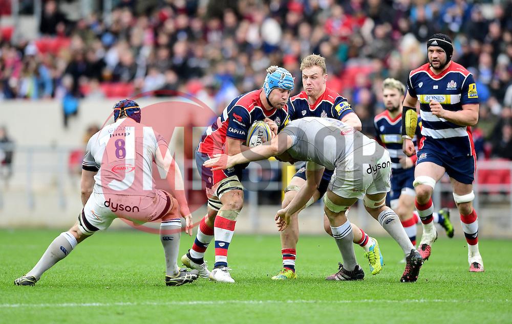 Jordan Crane (c) of Bristol Rugby  - Mandatory by-line: Joe Meredith/JMP - 26/02/2017 - RUGBY - Ashton Gate - Bristol, England - Bristol Rugby v Bath Rugby - Aviva Premiership