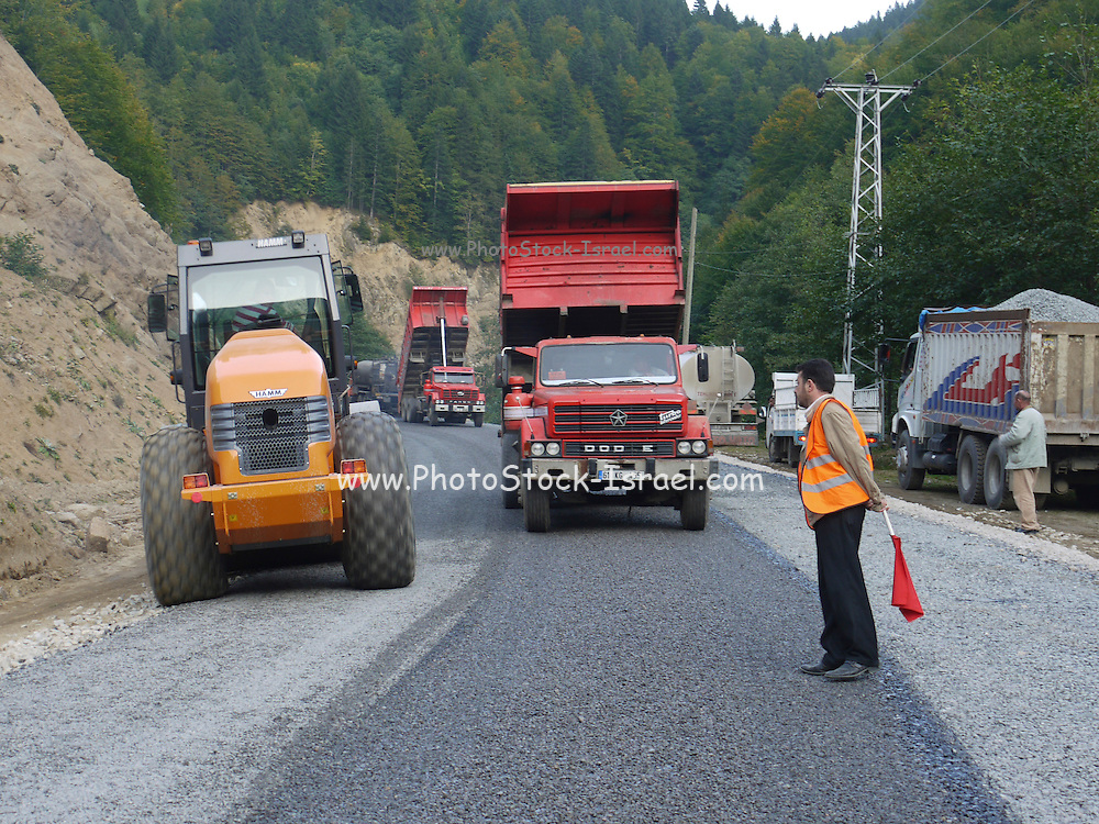 Turkey, Pontic Mountains range, Road repairs