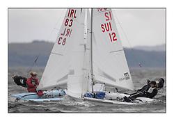470 Class European Championships Largs - Day 6.IRL83, Diana KISSANE, Saskia TIDEY, Royal Irish Yacht Club, SUI12, Fiona TESTUZ, Anne-sophie THILO, Club Nautique Pully.
