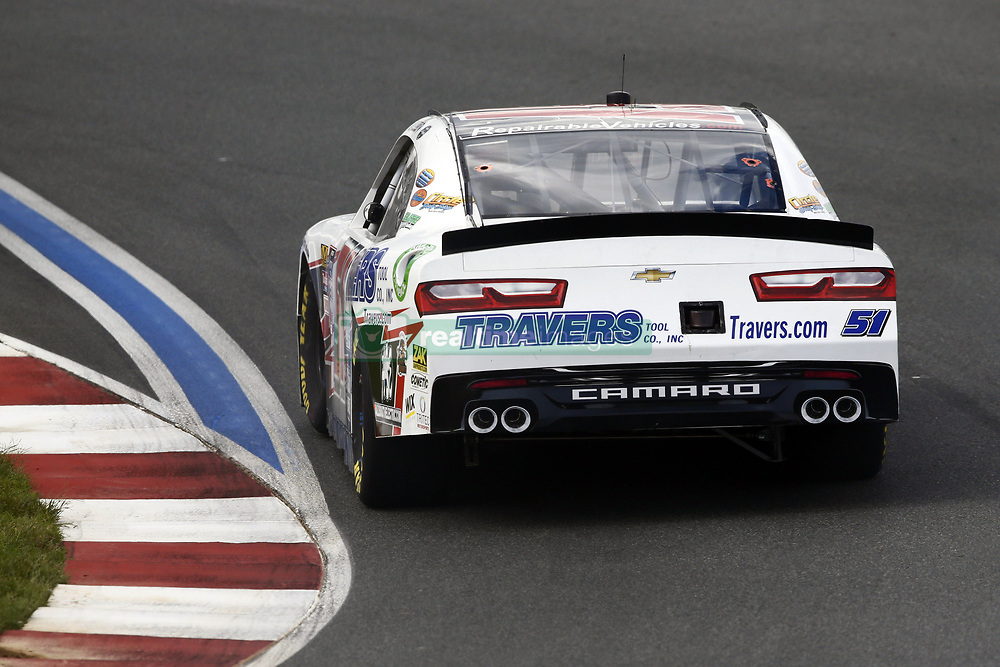 September 27, 2018 - Concord, North Carolina, United States of America - Jeremy Clements (51) races through the turns during practice for the Drive for the Cure 200 at Charlotte Motor Speedway in Concord, North Carolina. (Credit Image: © Chris Owens Asp Inc/ASP via ZUMA Wire)