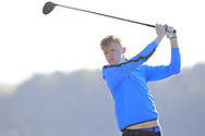 Jack Egan (Muskerry) on the 2nd tee during Round 2 of the Ulster Boys Championship at Donegal Golf Club, Murvagh, Donegal, Co Donegal on Thursday 25th April 2019.<br /> Picture:  Thos Caffrey / www.golffile.ie