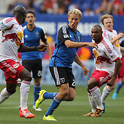 Steven Lenhart, San Jose Earthquakes, in action during the New York Red Bulls Vs San Jose Earthquakes, Major League Soccer regular season match at Red Bull Arena, Harrison, New Jersey. USA. 19th July 2014. Photo Tim Clayton