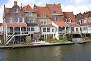 Attractive historic waterside buildings, Enkhuizen, Netherlands