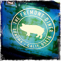 25 February 2012: The Fremont Diner logo in Sonoma Carneros, California.  iPhone Stock Photo