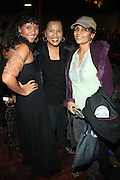 l to r: Vanessa Bronfman, Sherry Bronfman and Ming Smith at the Dr. Barbara Ann Teer's Institute of Action Arts launch for the 41st  Communication Arts Program Symposium held at The National Black Theater in Harlem, NY on March 27, 2009