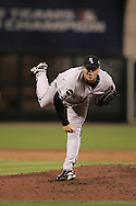 HOUSTON - OCTOBER 26:  Bobby Jenks #45 of the Chicago White Sox pitches during Game 4 of the 2005 World Series against the Houston Astros at Minute Maid Park on October 26, 2005 in Chicago, Illinois.  The White Sox defeated the Astros 1-0.