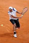 Roland Garros. Paris, France. June 1st 2007..3rd Round..Potito STARACE against Roger FEDERER.