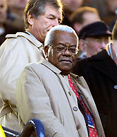 Photo: Ed Godden.<br /> Tottenham Hotspur v Chelsea. The Barclays Premiership. 05/11/2006. Sir Trevor McDonald watches from the stands.
