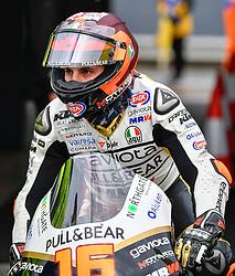 October 26, 2018 - Melbourne, Victoria, Australia - Italian rider Andrea Migno (#16) of Angel Nieto Team Moto3 leaves his garage during day 2 of the 2018 Australian MotoGP held at Phillip Island, Australia. (Credit Image: © Theo Karanikos/ZUMA Wire)