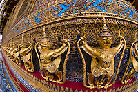 Temple of the Emerald Buddha, Grand Palace, Bangkok, Thailand