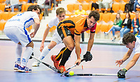 ROTTERDAM  - NK Zaalhockey,   wedstrijd om brons.  heren Oranje Rood- Kampong. OR wint. . Benjamin Stanzl (Oranje-Rood)     COPYRIGHT KOEN SUYK