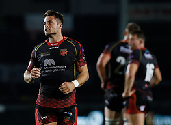 Dragons' Josh Lewis<br /> <br /> Photographer Simon King/Replay Images<br /> <br /> Guinness PRO14 Round 1 - Dragons v Benetton Treviso - Saturday 1st September 2018 - Rodney Parade - Newport<br /> <br /> World Copyright © Replay Images . All rights reserved. info@replayimages.co.uk - http://replayimages.co.uk