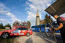 Service of teams at Rogla tourist resort after 2nd stage of Tour de Slovenie 2009 from Kamnik to Ljubljana, 146 km, on June 19 2009, Rogla, Slovenia. (Photo by Vid Ponikvar / Sportida)