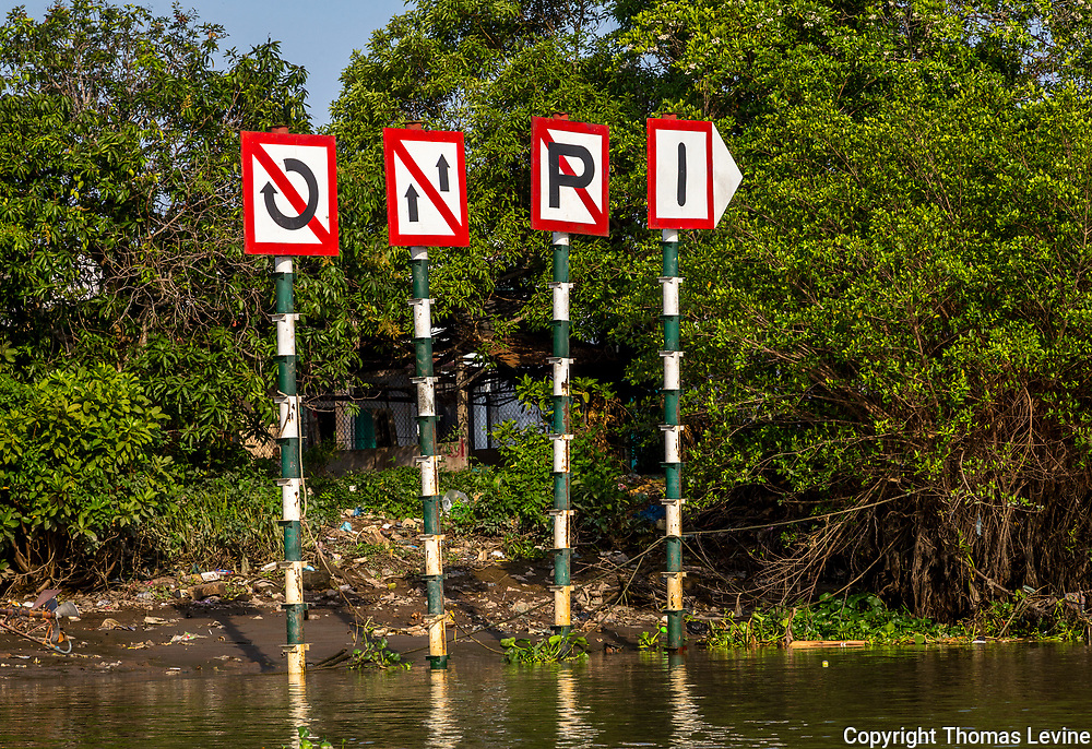 Signs on the Mekong River