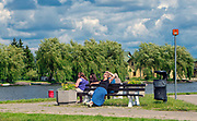 Bulwary spacerowe nad rzeką Nettą, Augustów.