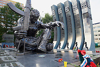 Russie, Ekaterinburg ou Yekaterinburg, place de l Armee Rouge, memorial aux soldats tues pendant la guerre d Afghanistan // Russia, Ekaterinburg or Yekaterinburg, Red Army Square, Afghan war memorial