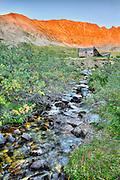 Sunset on Fletcher Mountain and the Boston Mine ruins, Mayflower Gulch, Colorado