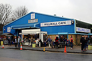 Millwall cafe during the The FA Cup 3rd round match between Millwall and Bournemouth at The Den, London, England on 7 January 2017. Photo by Matthew Redman.