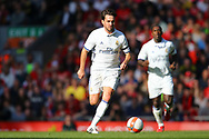 Savio Bortolinim of Real Madrid legends team in action. Liverpool Legends  v Real Madrid Legends, Charity match for the LFC Foundation at the Anfield stadium in Liverpool, Merseyside on Saturday 25th March 2017.<br /> pic by Chris Stading, Andrew Orchard sports photography.