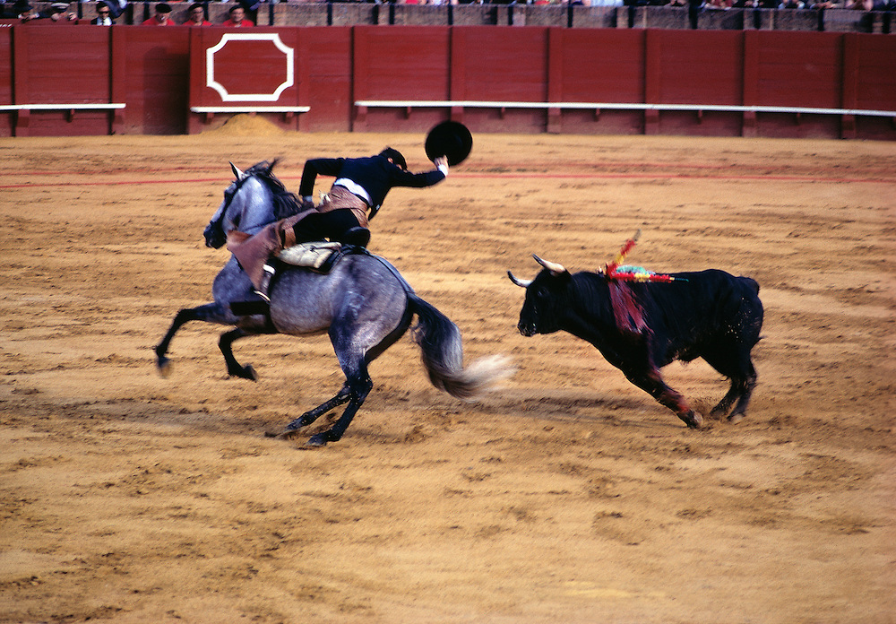 Bullfighting, as seen here in Seville, is a national past time in Spain.