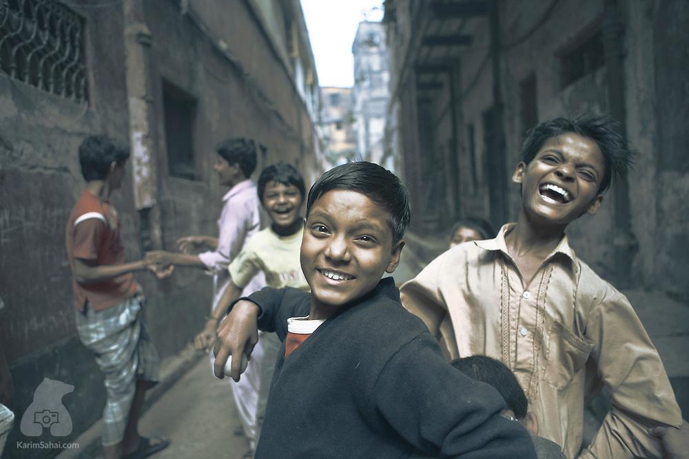 Happy boys, Kolkata, West Bengal, India.