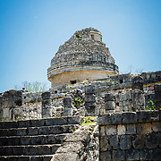 Observatory building at Chichen Itza archeological site