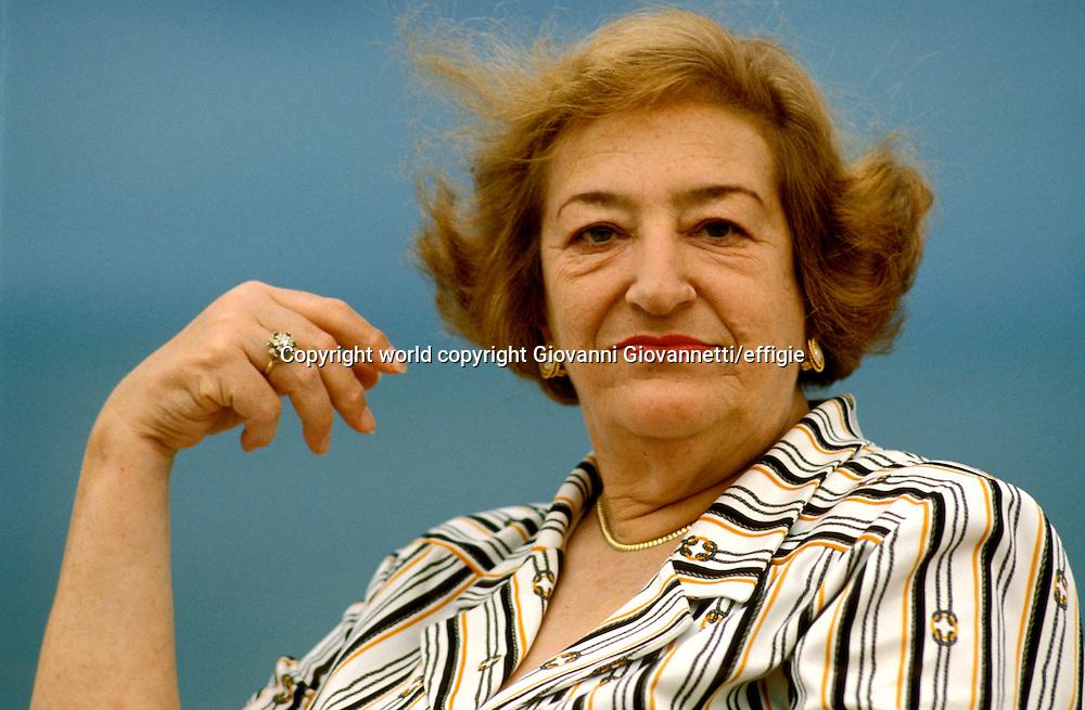 Maria Luisa Spaziani<br />world copyright Giovanni Giovannetti/effigie / Writer Pictures<br /> <br /> NO ITALY, NO AGENCY SALES / Writer Pictures<br /> <br /> NO ITALY, NO AGENCY SALES