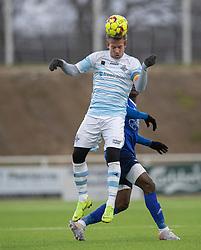 Jonas Henriksen (FC Helsingør) under træningskampen mellem FC Helsingør og Fremad Amager den 18. januar 2020 på Helsingør Ny Stadion (Foto: Claus Birch)