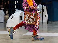 Models during the Matty Bovan Fashion East Autumn/Winter 2017 London Fashion Week show at the Topshop Show Space, Tate Modern, London. PRESS ASSOCIATION. Picture date: Saturday February 18, 2017. Photo credit should read: Isabel Infantes/PA Wire